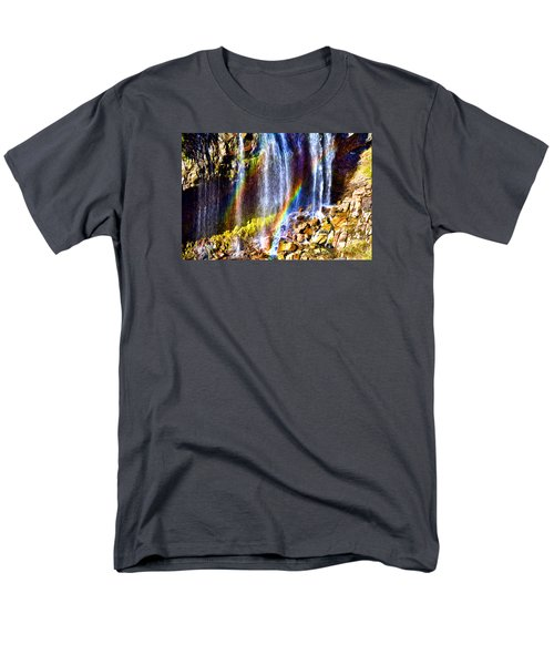Men's T-Shirt  (Regular Fit) featuring the photograph Falling Rainbows by Anthony Baatz
