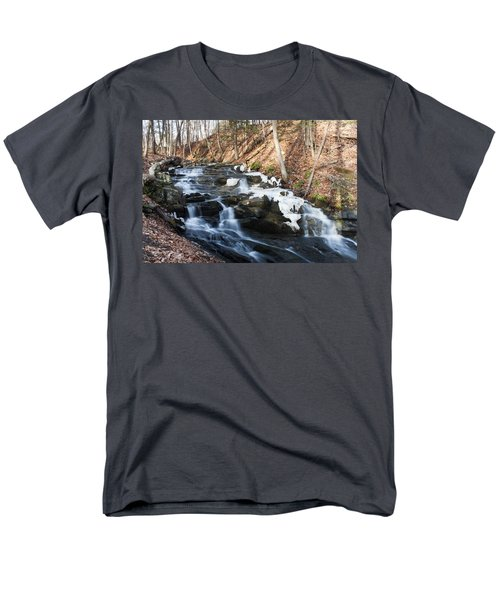 Men's T-Shirt  (Regular Fit) featuring the photograph Falling Waters In February #1 by Jeff Severson