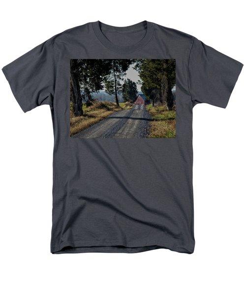 Men's T-Shirt  (Regular Fit) featuring the photograph Farm Lane by Robert Geary