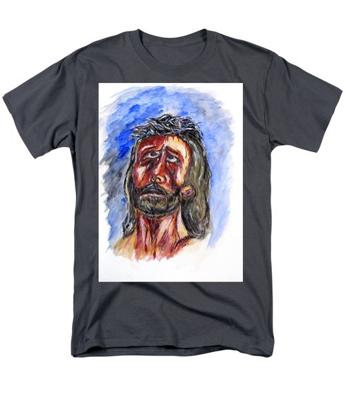 Father Forgive Them Men's T-Shirt  (Regular Fit) by Clyde J Kell