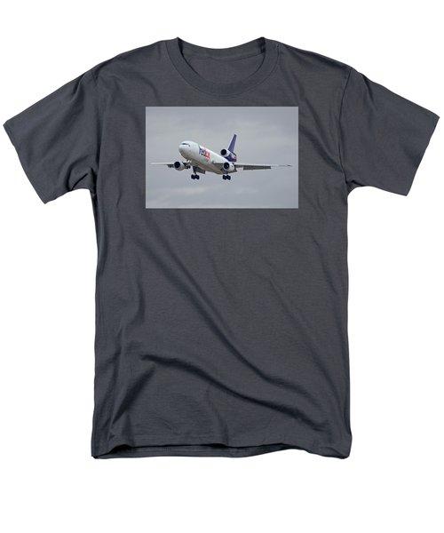 Fedex Express Mcdonnell Douglas Md-10-10f N359fe Phoenix Sky Harbor December 23 2015 Men's T-Shirt  (Regular Fit) by Brian Lockett