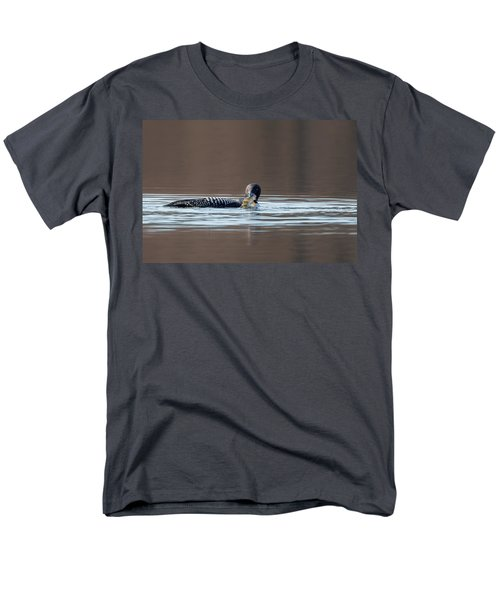 Feeding Common Loon Men's T-Shirt  (Regular Fit) by Bill Wakeley