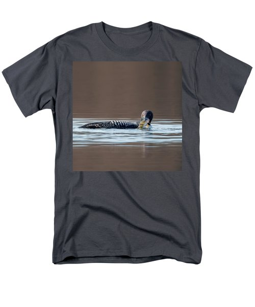 Feeding Common Loon Square Men's T-Shirt  (Regular Fit) by Bill Wakeley