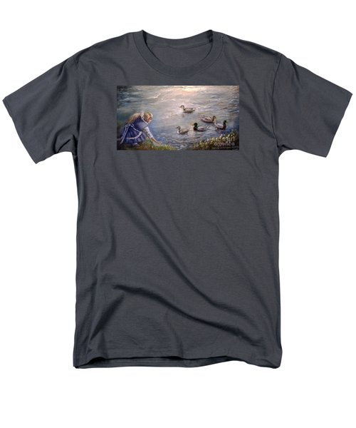 Feeding Time Men's T-Shirt  (Regular Fit) by Patricia Schneider Mitchell
