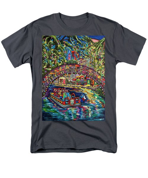 Men's T-Shirt  (Regular Fit) featuring the painting Feliz Navidad San Antonio by Patti Schermerhorn