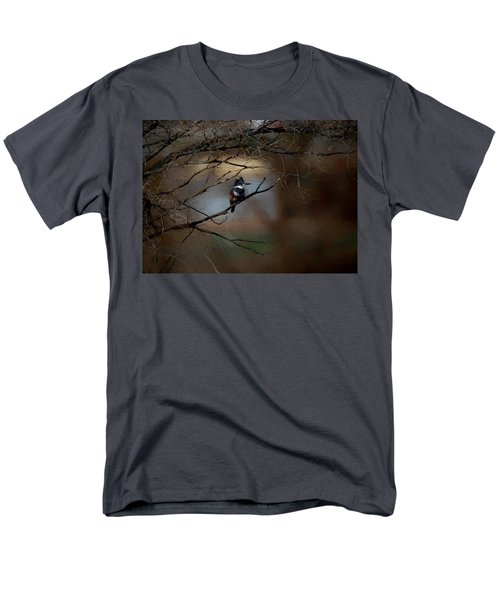 Men's T-Shirt  (Regular Fit) featuring the digital art Female Belted Kingfisher 3 by Ernie Echols