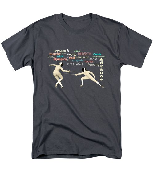 Fencing Duo Men's T-Shirt  (Regular Fit) by Methune Hively
