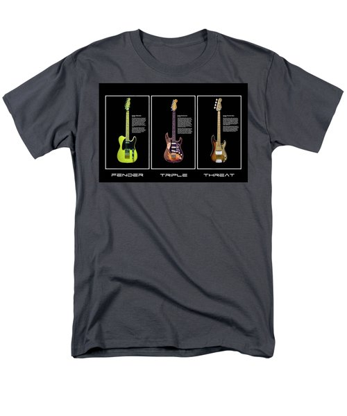 Men's T-Shirt  (Regular Fit) featuring the photograph Fender Triple Threat by Peter Chilelli