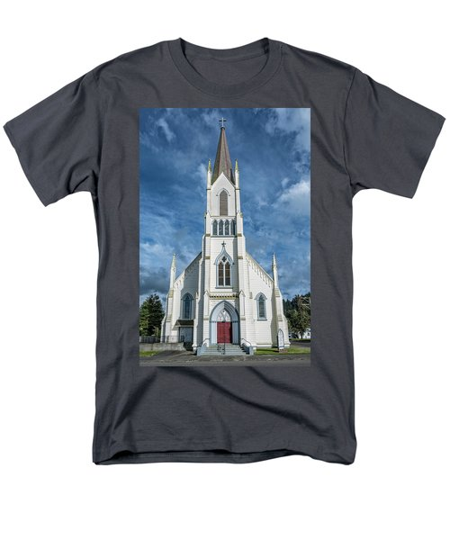 Men's T-Shirt  (Regular Fit) featuring the photograph Ferndale Catholic Church by Greg Nyquist