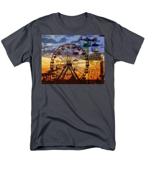 Men's T-Shirt  (Regular Fit) featuring the digital art Ferris At Dusk by David Lee Thompson