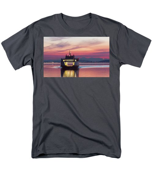 Ferry Issaquah Docking At Dawn Men's T-Shirt  (Regular Fit) by E Faithe Lester
