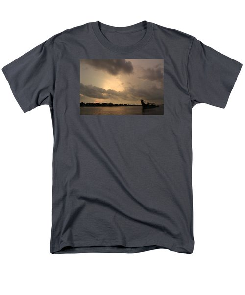 Ferry On The Way To Fort Kochi Men's T-Shirt  (Regular Fit) by Jennifer Mazzucco