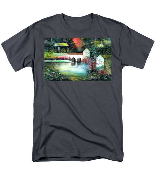 Men's T-Shirt  (Regular Fit) featuring the painting Festival Of Lights by Anil Nene