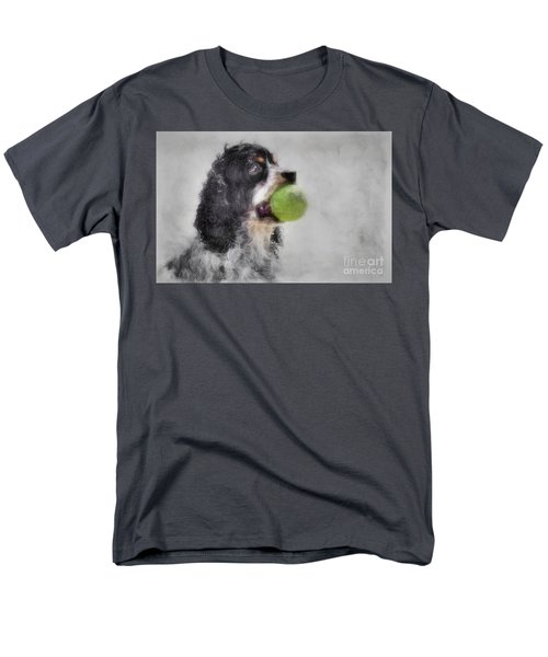 Men's T-Shirt  (Regular Fit) featuring the photograph Fetching Cocker Spaniel  by Benanne Stiens
