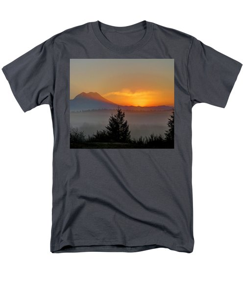 Men's T-Shirt  (Regular Fit) featuring the photograph Fiery Fall Sunrise by Peter Mooyman