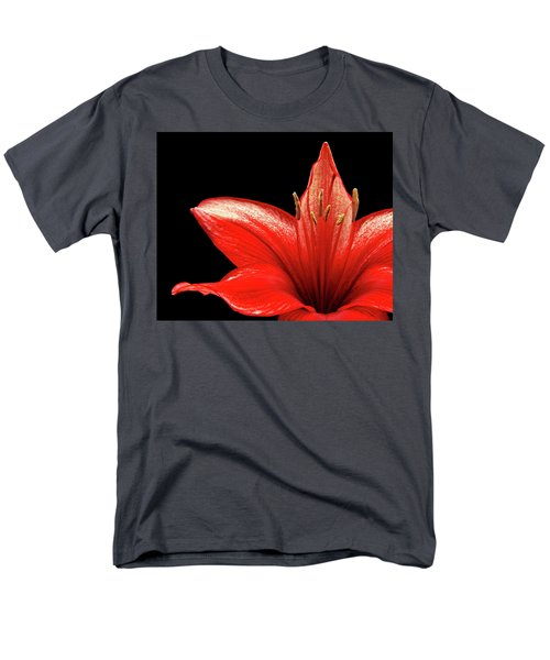 Men's T-Shirt  (Regular Fit) featuring the photograph Fiery Red by Judy Vincent
