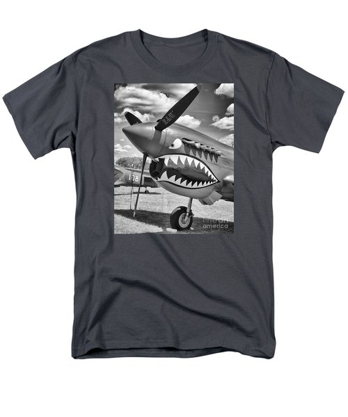 Men's T-Shirt  (Regular Fit) featuring the photograph Fighting Tiger by Ricky L Jones