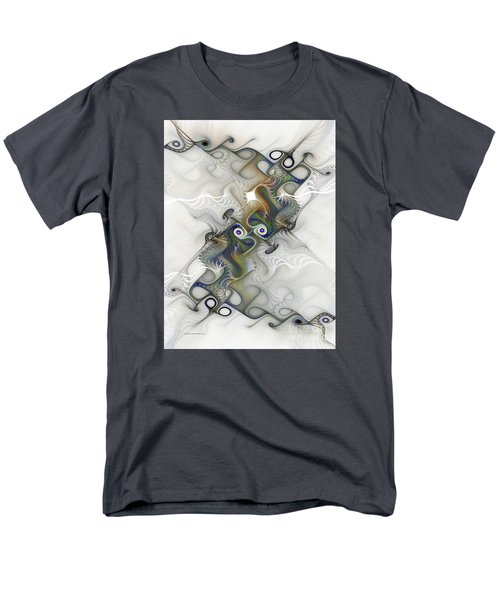 Men's T-Shirt  (Regular Fit) featuring the digital art Fine Traces by Karin Kuhlmann