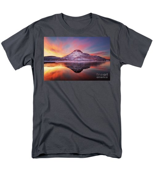 Fire And Ice - Flatiron Reservoir, Loveland Colorado Men's T-Shirt  (Regular Fit) by Ronda Kimbrow