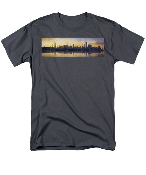 Fire In The Sky Chicago At Sunset Men's T-Shirt  (Regular Fit) by Scott Norris