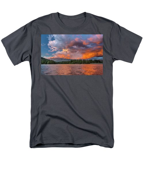 Fire Sunset Over Shasta Men's T-Shirt  (Regular Fit) by Greg Nyquist