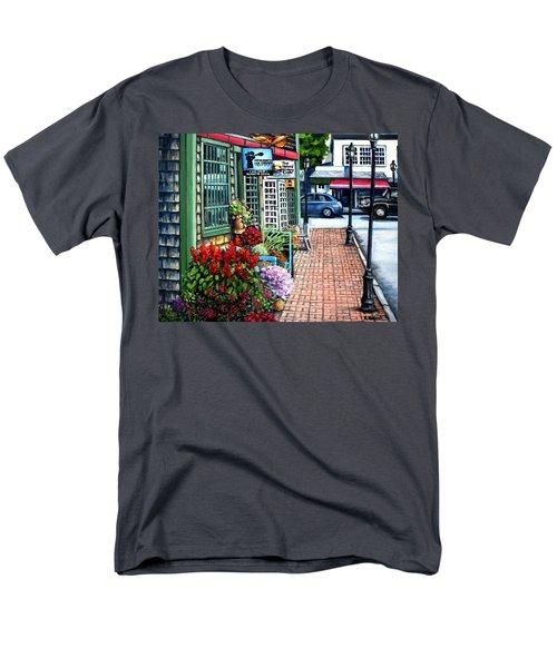 Firefly Lane Bar Harbor Maine Men's T-Shirt  (Regular Fit) by Eileen Patten Oliver