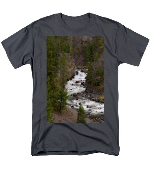 Men's T-Shirt  (Regular Fit) featuring the photograph Firehole Canyon by Steve Stuller