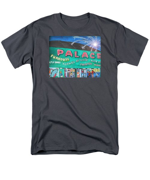 Men's T-Shirt  (Regular Fit) featuring the painting Fireworks At The Palace by Patricia Arroyo