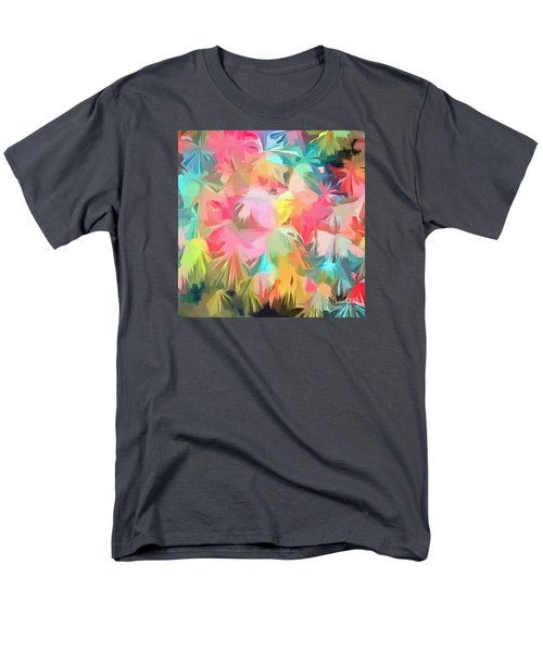 Fireworks Floral Abstract Square Men's T-Shirt  (Regular Fit) by Edward Fielding