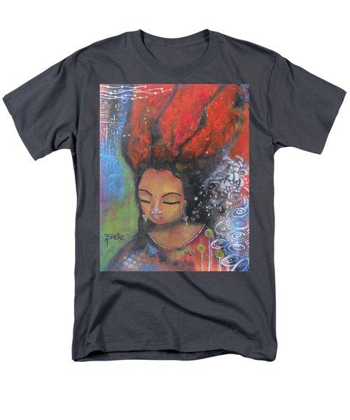 Firey Hair Girl Men's T-Shirt  (Regular Fit) by Prerna Poojara
