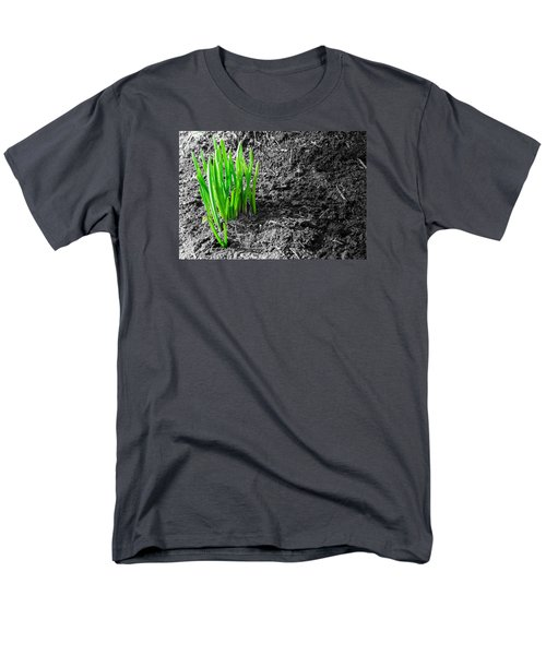 First Green Shoots Of Spring And Dirt Men's T-Shirt  (Regular Fit) by John Williams