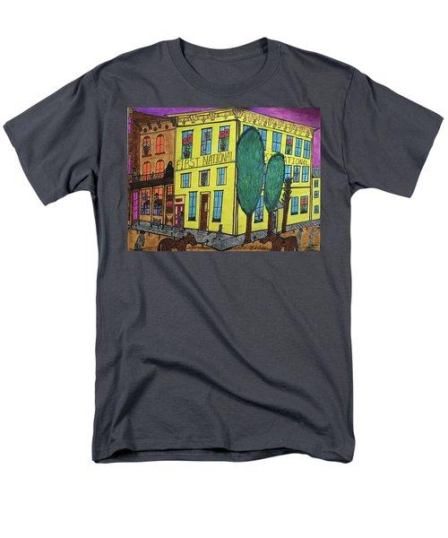 First National Hotel. Historic Menominee Art. Men's T-Shirt  (Regular Fit) by Jonathon Hansen