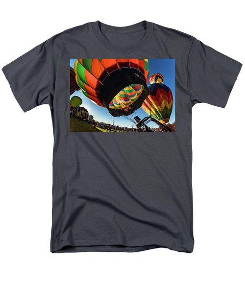 Men's T-Shirt  (Regular Fit) featuring the photograph Fish Eye View Of The Balloon Races by Janis Knight