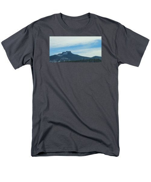 Fishers Peak Raton Mesa In Snow Men's T-Shirt  (Regular Fit) by Christopher Kirby