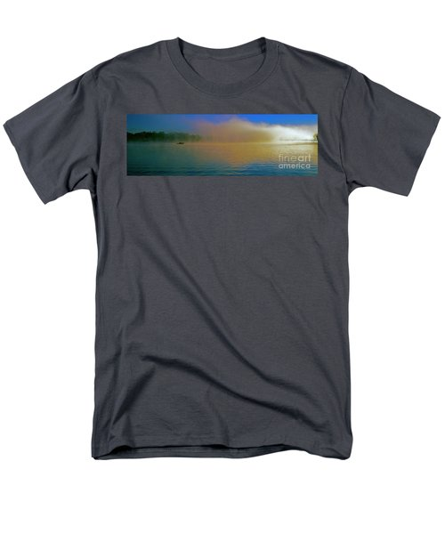 Fishing Boat Day Break  Men's T-Shirt  (Regular Fit) by Tom Jelen