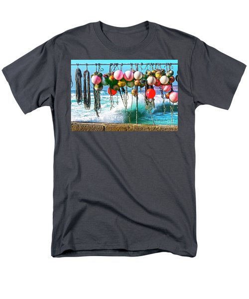 Men's T-Shirt  (Regular Fit) featuring the photograph Fishing Buoys by Terri Waters