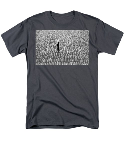 Men's T-Shirt  (Regular Fit) featuring the photograph Fishing The Rocks by David Lee Thompson