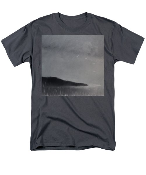 Men's T-Shirt  (Regular Fit) featuring the painting Fjord Landscape by Tone Aanderaa