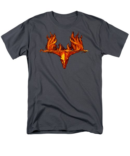 Flame On Buck With Arrow Men's T-Shirt  (Regular Fit) by Rob Corsetti