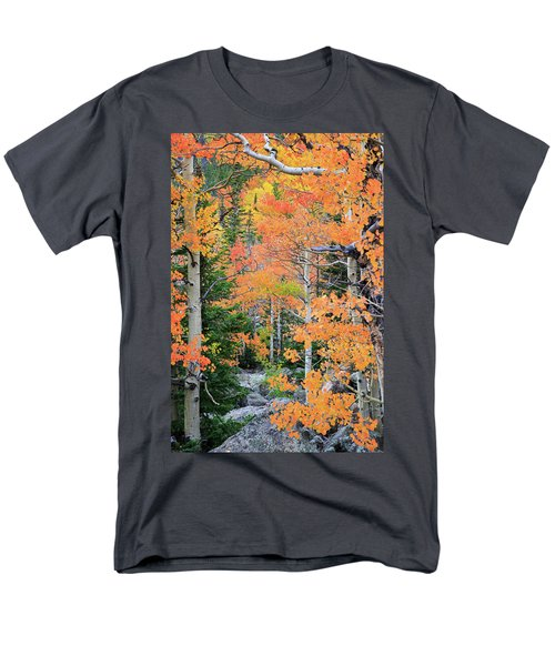 Flaming Forest Men's T-Shirt  (Regular Fit) by David Chandler