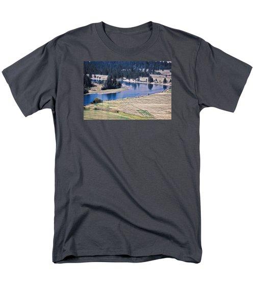 Flathead River 1 Men's T-Shirt  (Regular Fit) by Janie Johnson