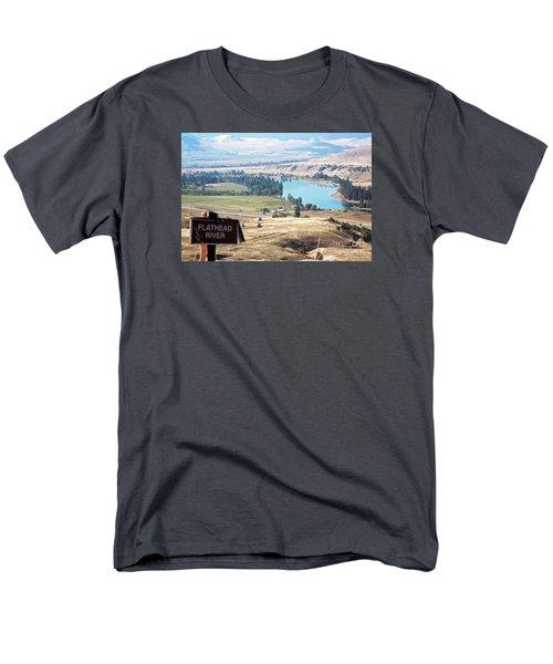 Flathead River 4 Men's T-Shirt  (Regular Fit) by Janie Johnson