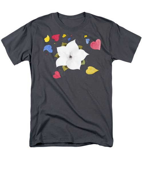 Fleur Et Coeurs Men's T-Shirt  (Regular Fit)
