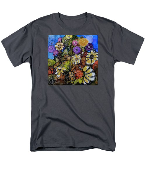 Men's T-Shirt  (Regular Fit) featuring the painting Floral Boquet by Suzanne Canner