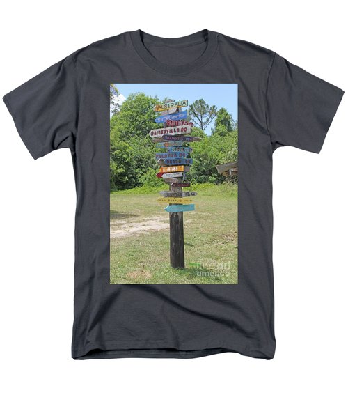 Florida Crossroads 3 Men's T-Shirt  (Regular Fit) by Dodie Ulery