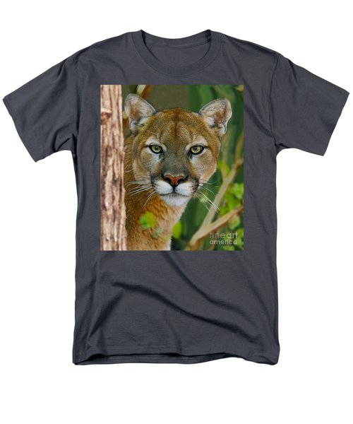 Men's T-Shirt  (Regular Fit) featuring the photograph Florida Panther by Larry Nieland