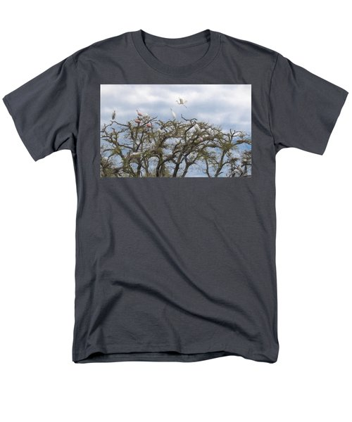 Men's T-Shirt  (Regular Fit) featuring the photograph Florida Rookery by Kelly Marquardt