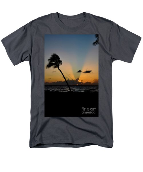Men's T-Shirt  (Regular Fit) featuring the photograph Florida Sunrise Palm by Kelly Wade