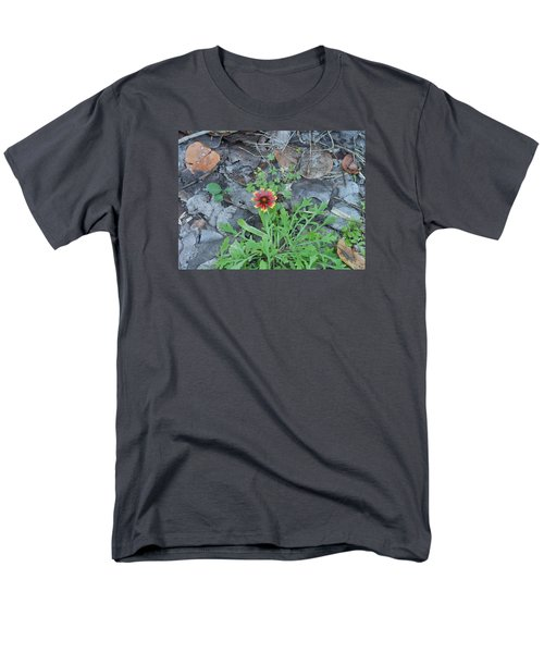 Men's T-Shirt  (Regular Fit) featuring the photograph Flower And Lizard by Kay Gilley