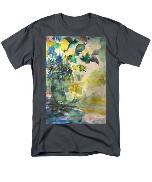Flower And Vase Stilllife  Men's T-Shirt  (Regular Fit) by Robin Miller-Bookhout